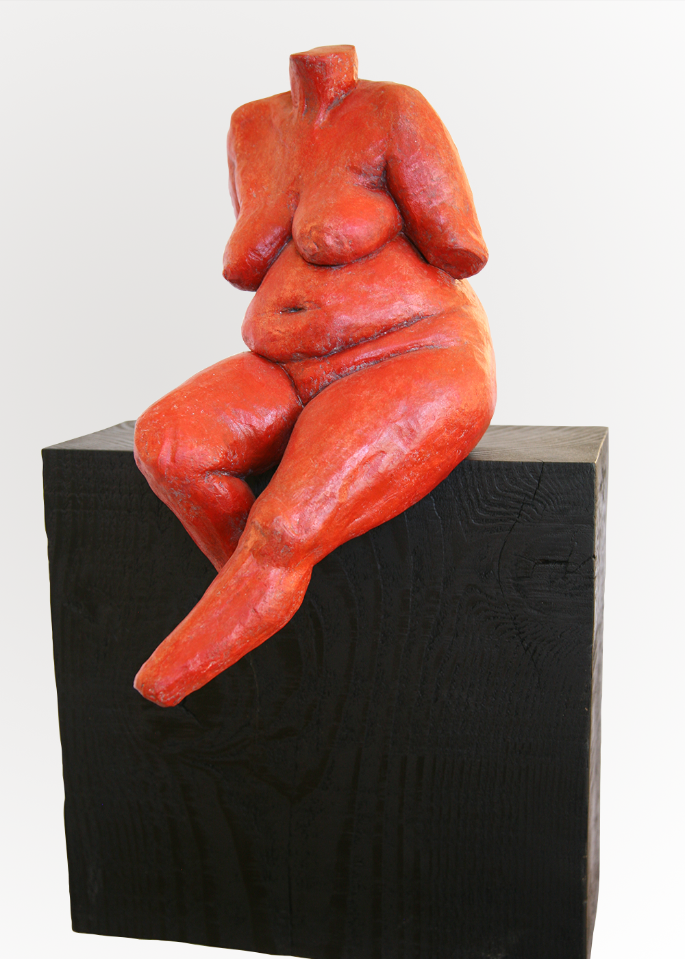 diana  painted clay 22 x 13 x 5.5