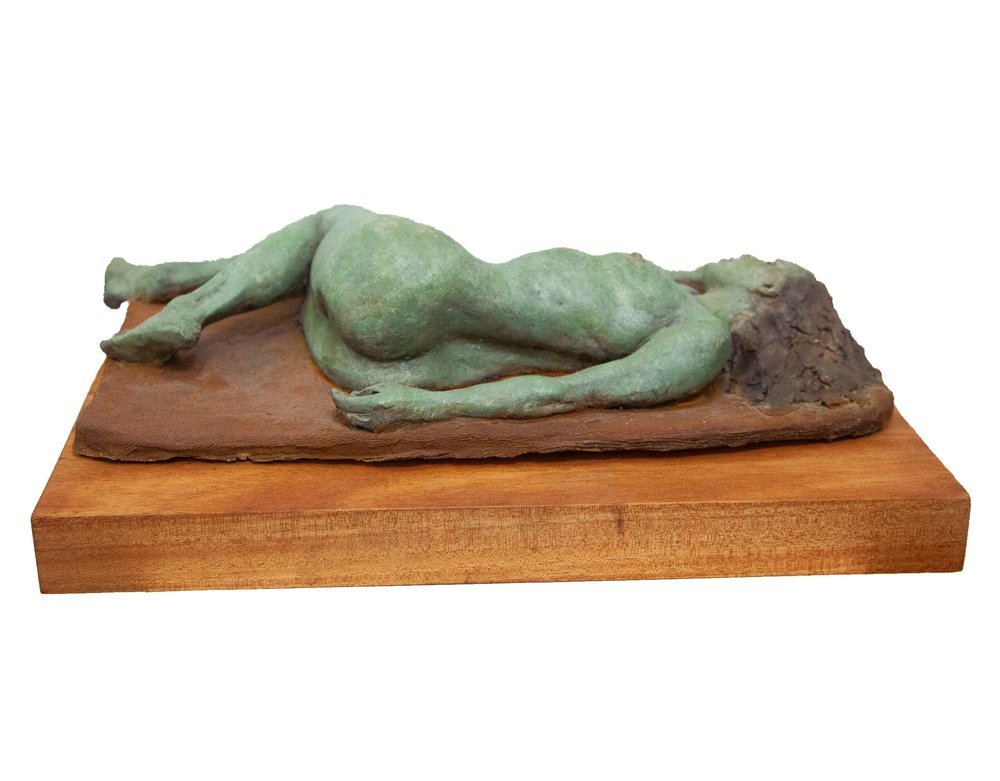 """Resting  High Fired Clay w/ Rusted Patina  15"""" x 13.5"""" x 18"""""""
