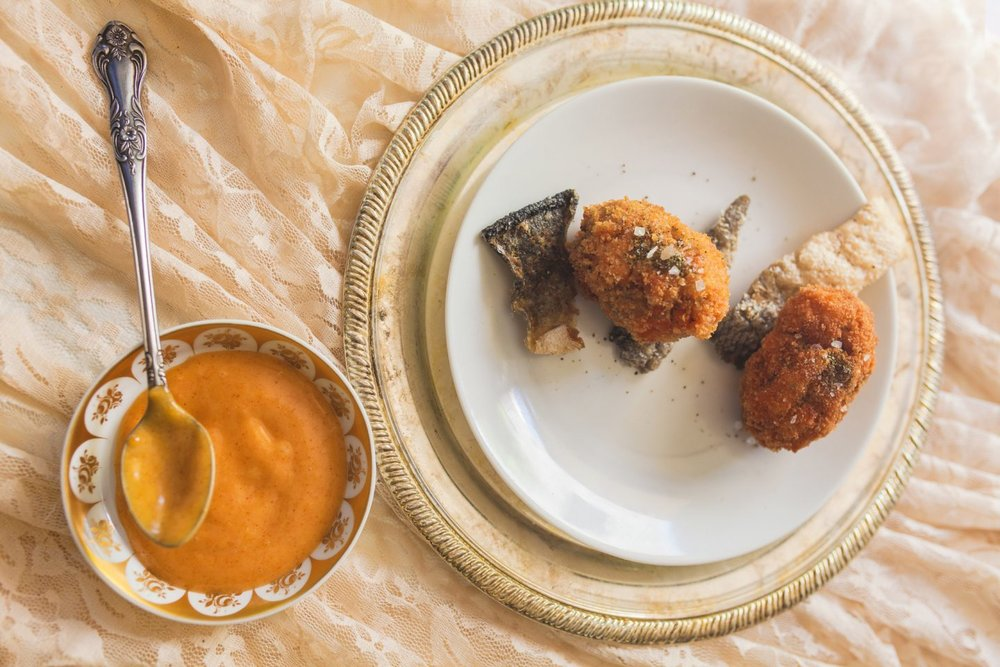 sea kelp salmon croquettes photo by Oriana Koren
