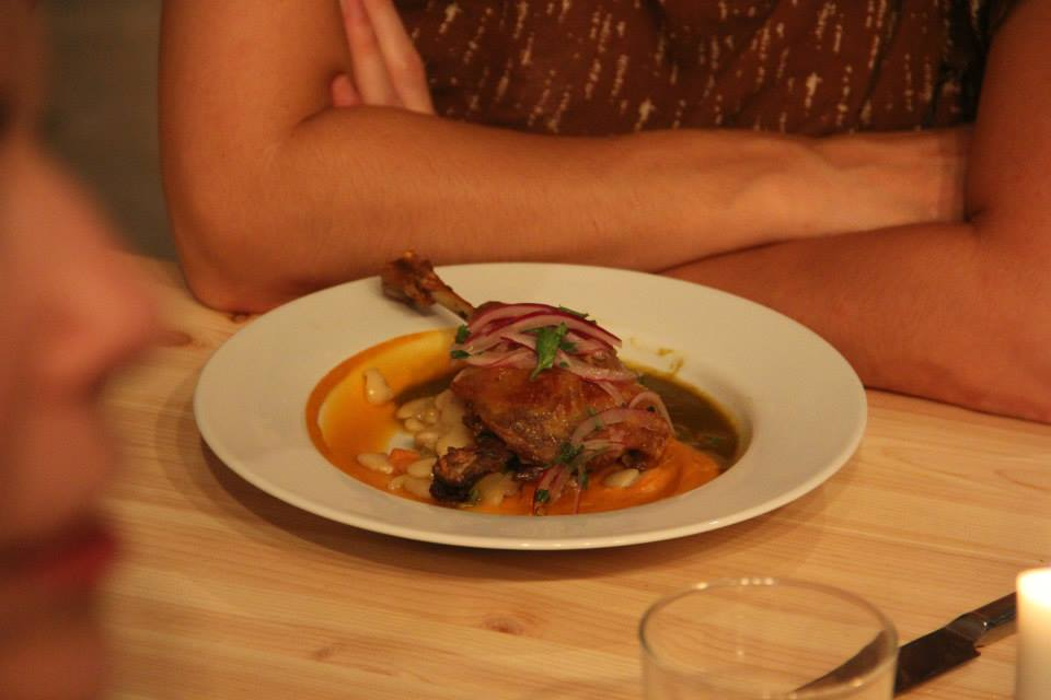 seco de pato, duck confit w/ sweet potato puree