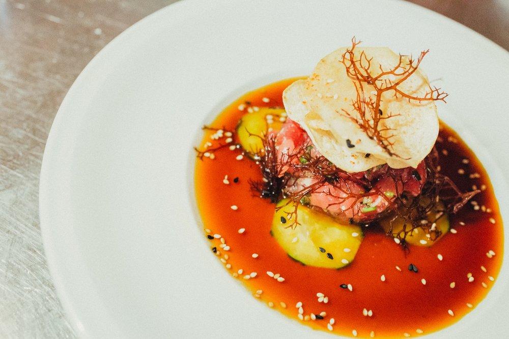 tuna tartare shot by Rebecca Aranda