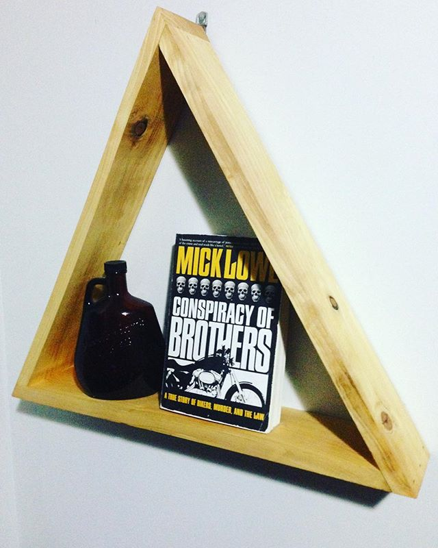 GIVE AWAY: Follow us! Tag two friends in the comments! We'll draw a name to win this awesome hemlock triangle shelf! #giveaway #woodwork #contest #gta #porthope #cobourg #triangleshelf