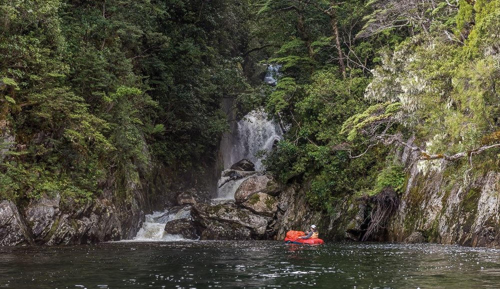 Packrafting will be a primary means of transport from Lake Te Anau onwards. Photo: Southern Alps Photography