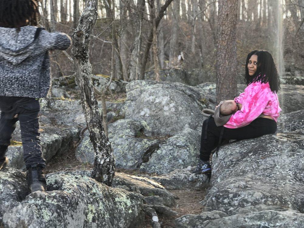 Ash on nature hike