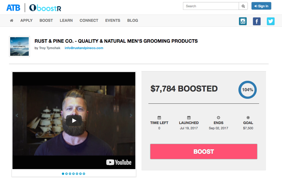 Rust & Pine Co.'s explainer video for the successfully funded ATB boostR campaign. -