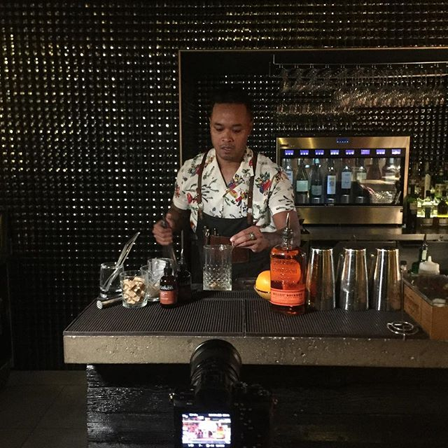 Making a tutorial video for using @tokenbitters in a cocktail!
