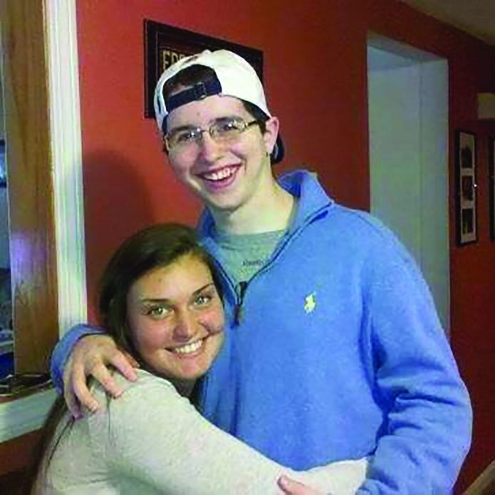 COURTESY PHOTO   Lynnfield native Danielle Nolan Normile (left) with her cousin, Dylan Rizzo.