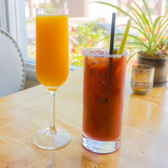 Endless mimosas and bloody Marys! Today for brunch only till 2pm!  #drinks #mimosa #bloodymary #brunch