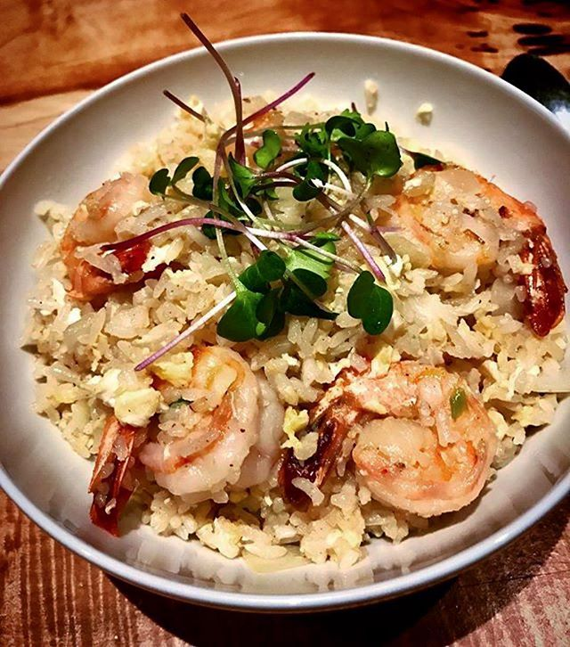 "Customer favorite (and ours 😁) from Day 1! Come try our coconut rice with shrimp and be transported to tropical climates ☀️🌊🌴 ""The fusion between what your body needs and what your heart wants."" . . . #coconut #coconutrice #shrimp #tropical #paradise #warmyourbelly #internationalcuisine #fusioncuisine #natural #local #healthy #southgrand #sgrand #shaw #stl #stlouis #taste #texture #whattheheartwants #fromscratch #nongmo #organic #grassfed #freerange #sustainable"