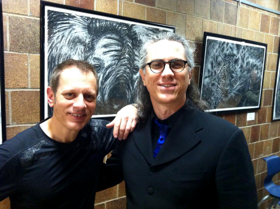 With Dave Weckl, after performance w/JazzMN Orchestra, Minnetonka, MN, October 11, 2014