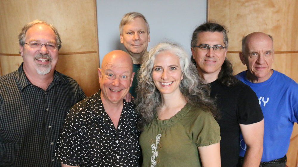 "Recording session for ""Good Hope"", July 14, 2015.   (L-R) Dave Schmalenberger, Gordon Johnson, Lee Blaske, Mary-Louise Knutson, DS, Kent Saunders."