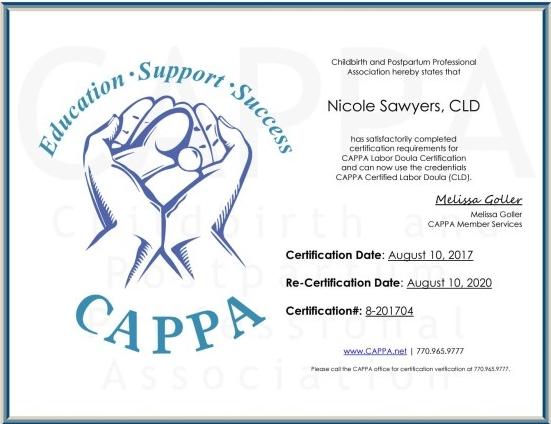 birth certification