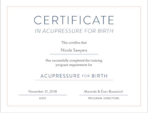 Accupressure for birth