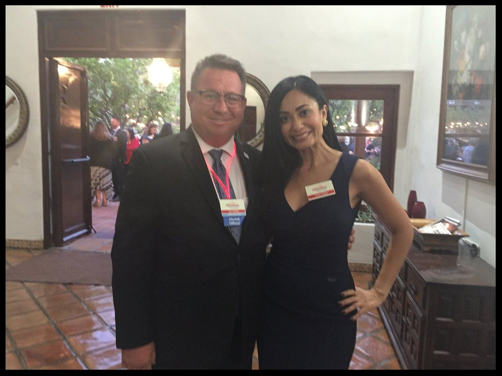 Esther Valdes with Bob Wells, Mayor of El Cajon.