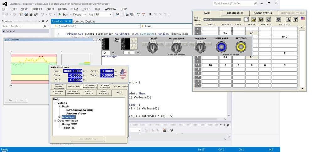 Spring Coiler Control Software Interface