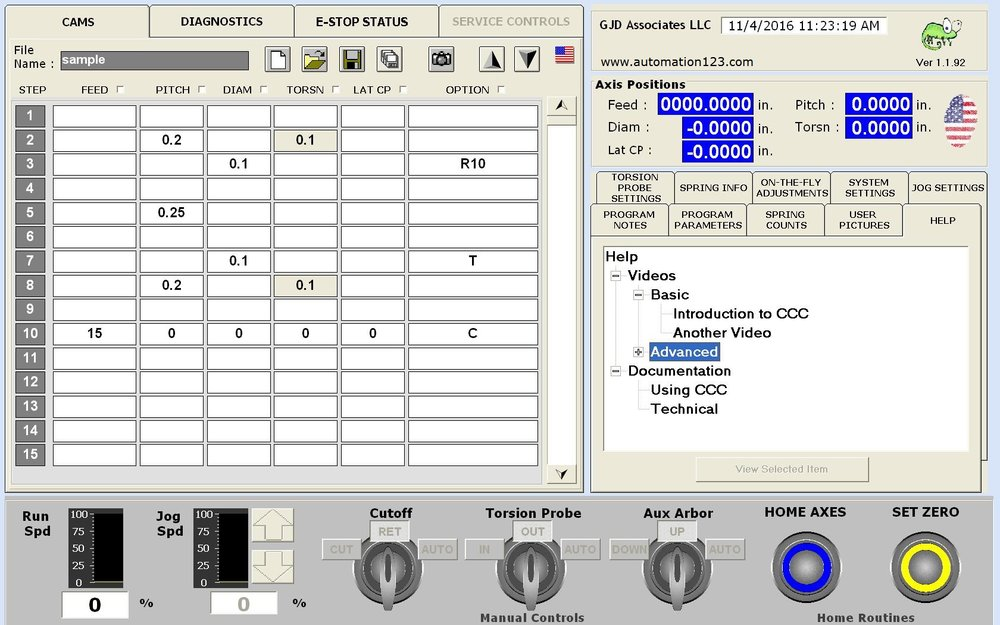 Spring Coiler Control Software Intuitive Change Control Visualization
