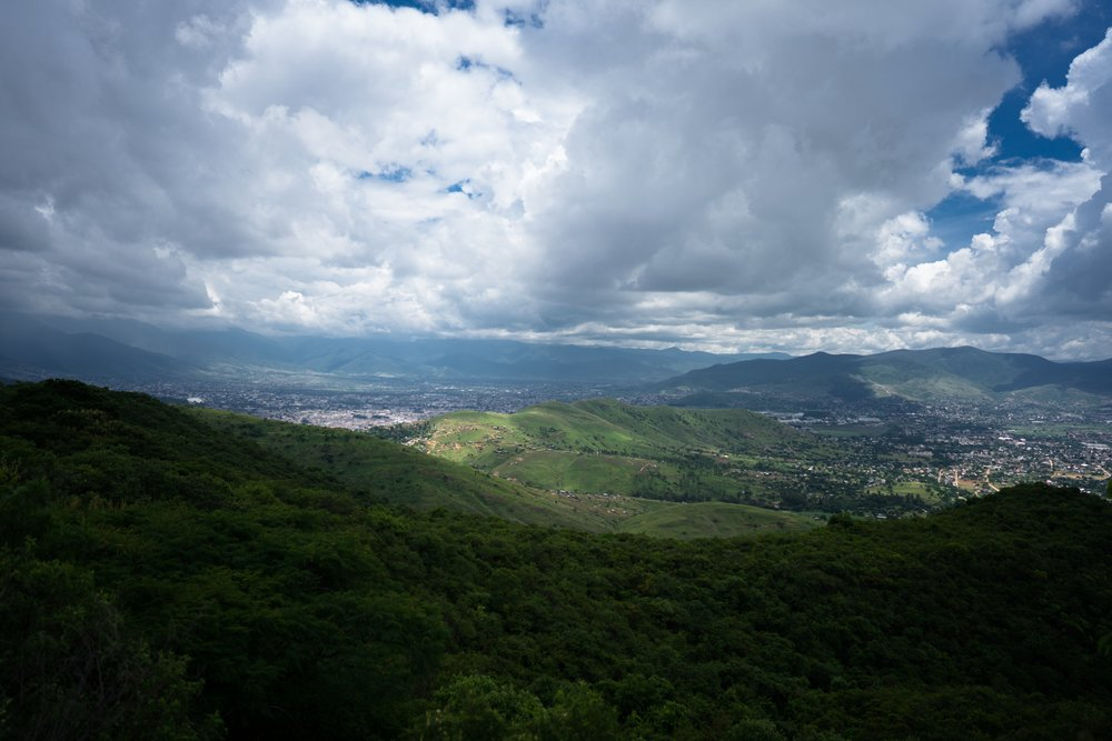 A view of Oaxaca from Monte Albán