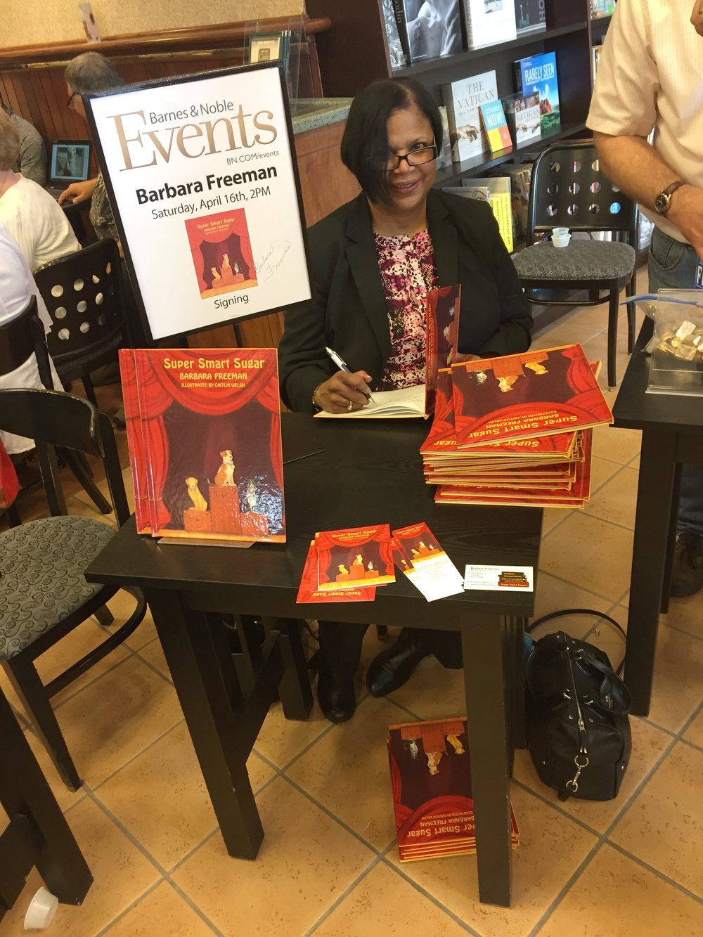 Barabara Freeman at a Book Event