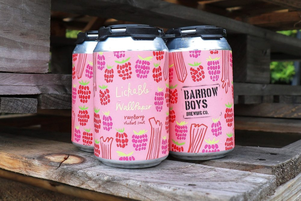 Lickable Wallpaper | Raspberry Rhubarb Sour Beer | March 2018