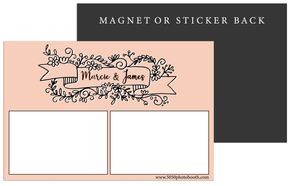 magnet or sticker print 5050 photo booth san antonio austin
