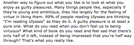 "excerpt from Paul Graham's blog post ""Copy What You Like"""
