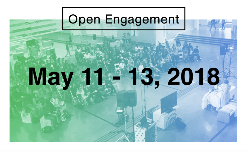 Open Engagement: Sustainability, Queens Museum, May 2018 - Open Engagement (OE) is an annual artist-led conference dedicated to expanding the dialogue around and creating a site of care for the field of socially engaged art.Open Engagement 2018will take place May 11 – 13, 2018at the Queens Museumand a constellation of sites throughout New York City. In addition to exploring the intersections of art and activism, this year's conference will explore the expansive theme of SUSTAINABILITYand will feature presenters Lucy Lippardand Mel Chin.