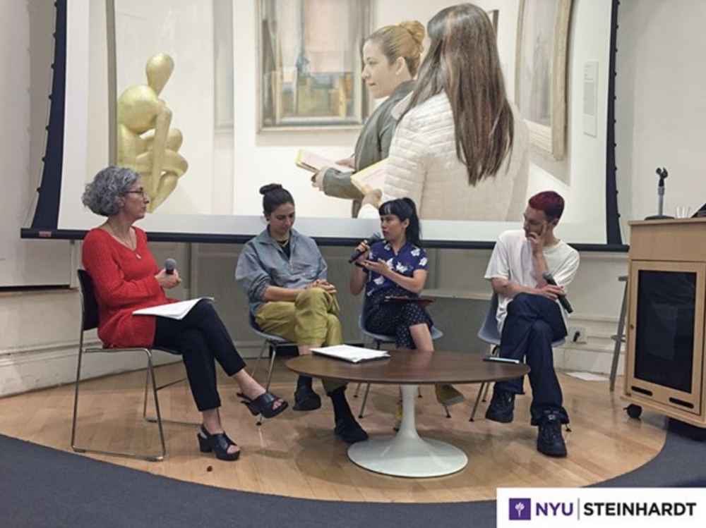 Partnership with NYU Steinhardt, Fall 2018 - This semester we're partnering with NYU Steinhardt's Visual Arts Administration MA Program, where we are working with graduate students to develop research for Look at Art. Get Paid.