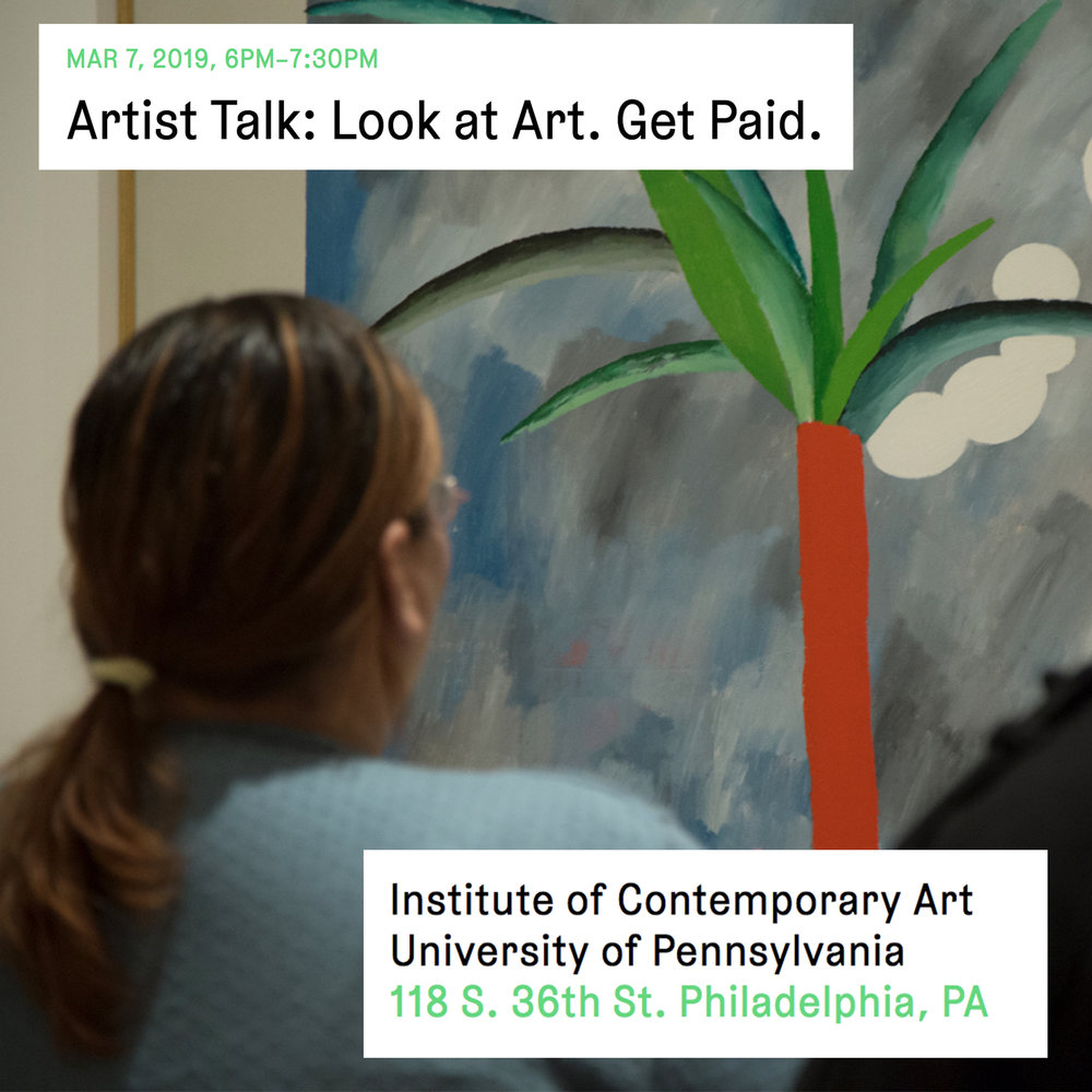 Artist Talk at the Institute of Contemporary Art, University of Pennsylvania - We talk accessibility in art institutions, the fine line between artistic and administrative labor, and knowledge politics with artist, Carol Zou. Free and open the public.March 7, 6PM-7:30PM118 S. 36th St. Philadelphia, PA
