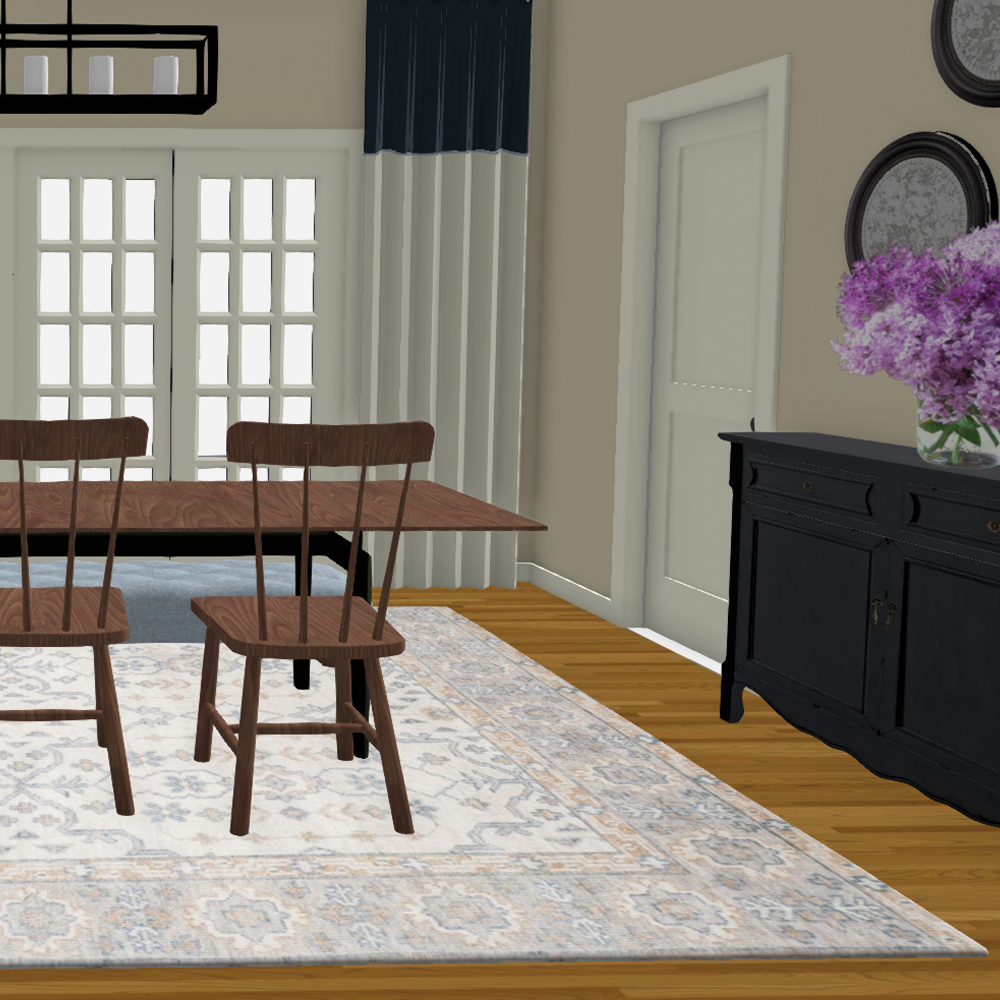 Dining Room Design 3D Rendering