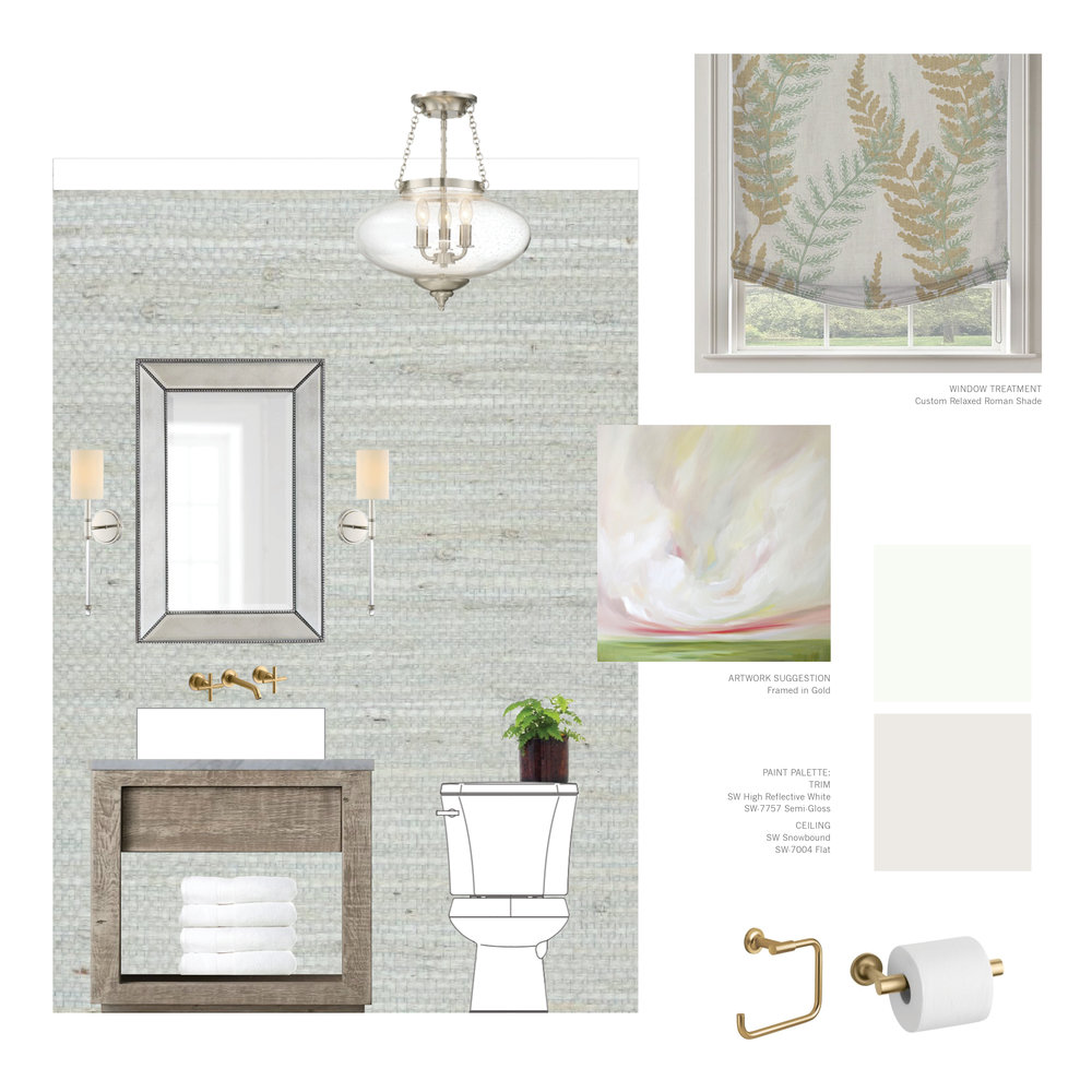 Powder Room Design Mood Board