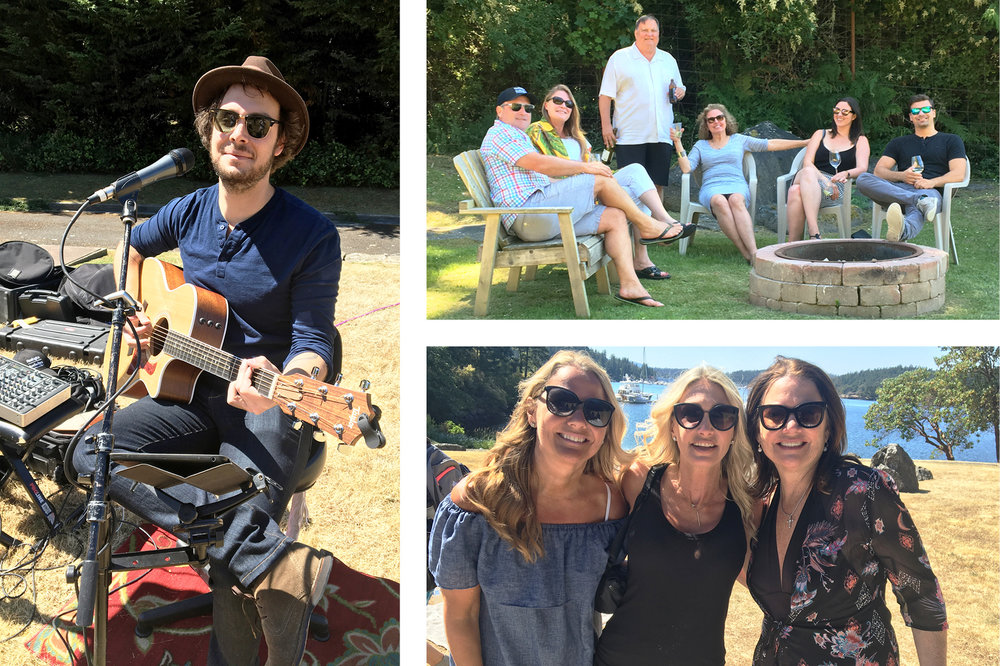The event began with Robbie Christmas playing live music in the meadow as guests got a taste of the lifestyle offering at Friday Harbor Estate.