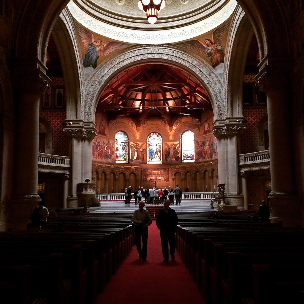 The interior of Stanford's Memorial Church, the venue for Ginsburg's lecture. Image credit: Gitanjali Bhattacharjee