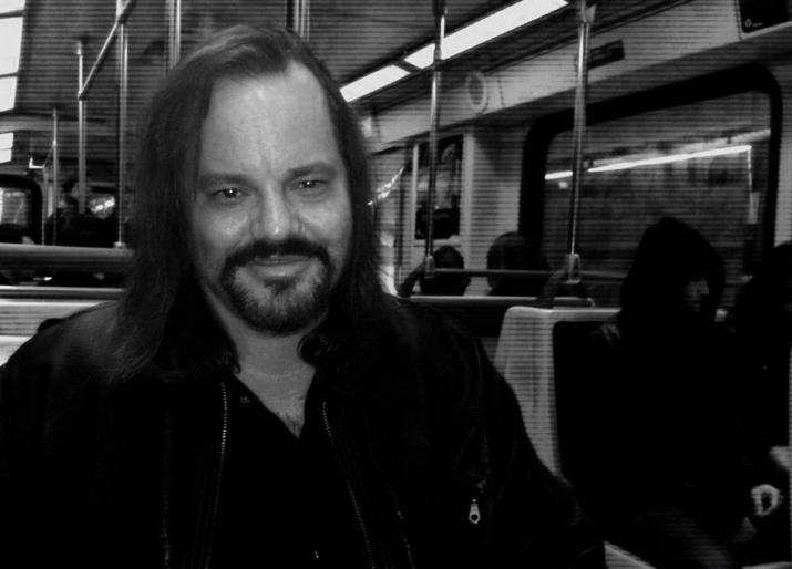 Shane on train