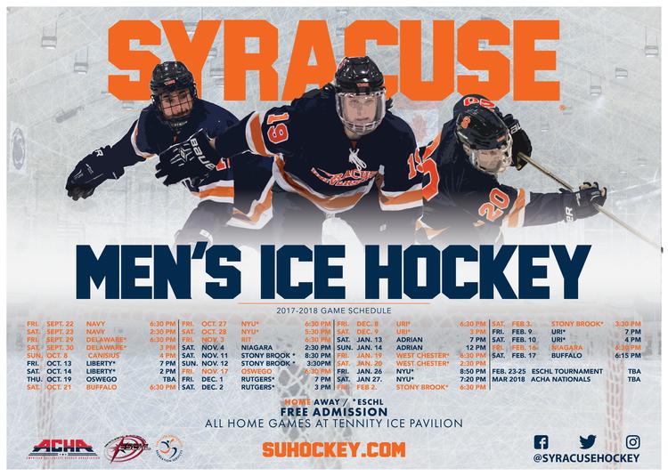 Ice Hockey Semester Game Schedule