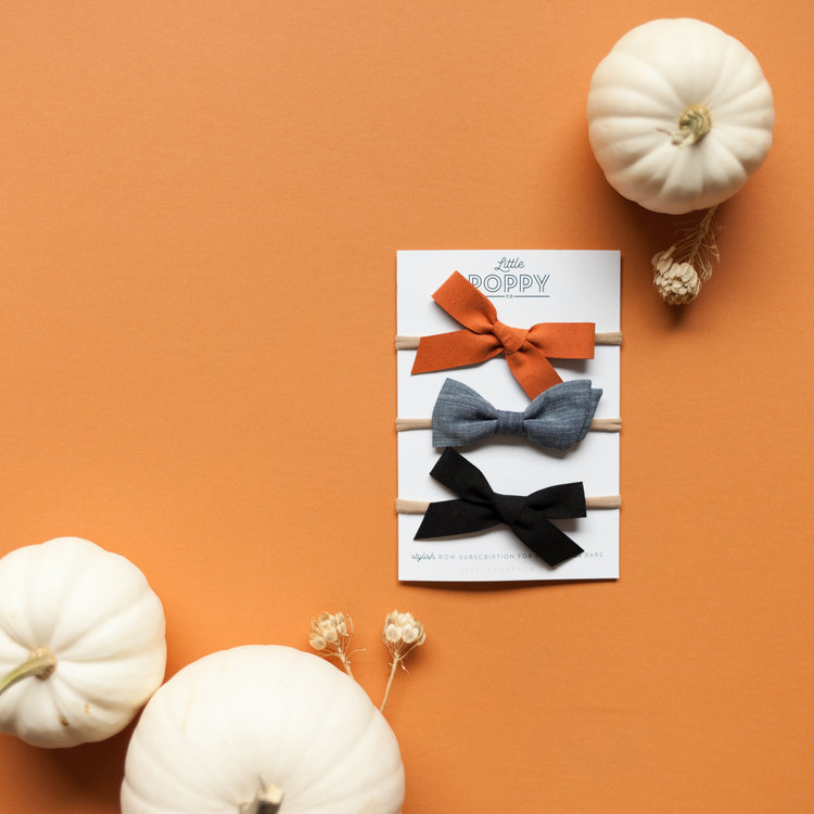 Here's a look at October bows! If you haven't subscribed yet, hurry and subscribe so you don't miss out. Subscribe here:  http://littlepoppyco.com/subscribe_start