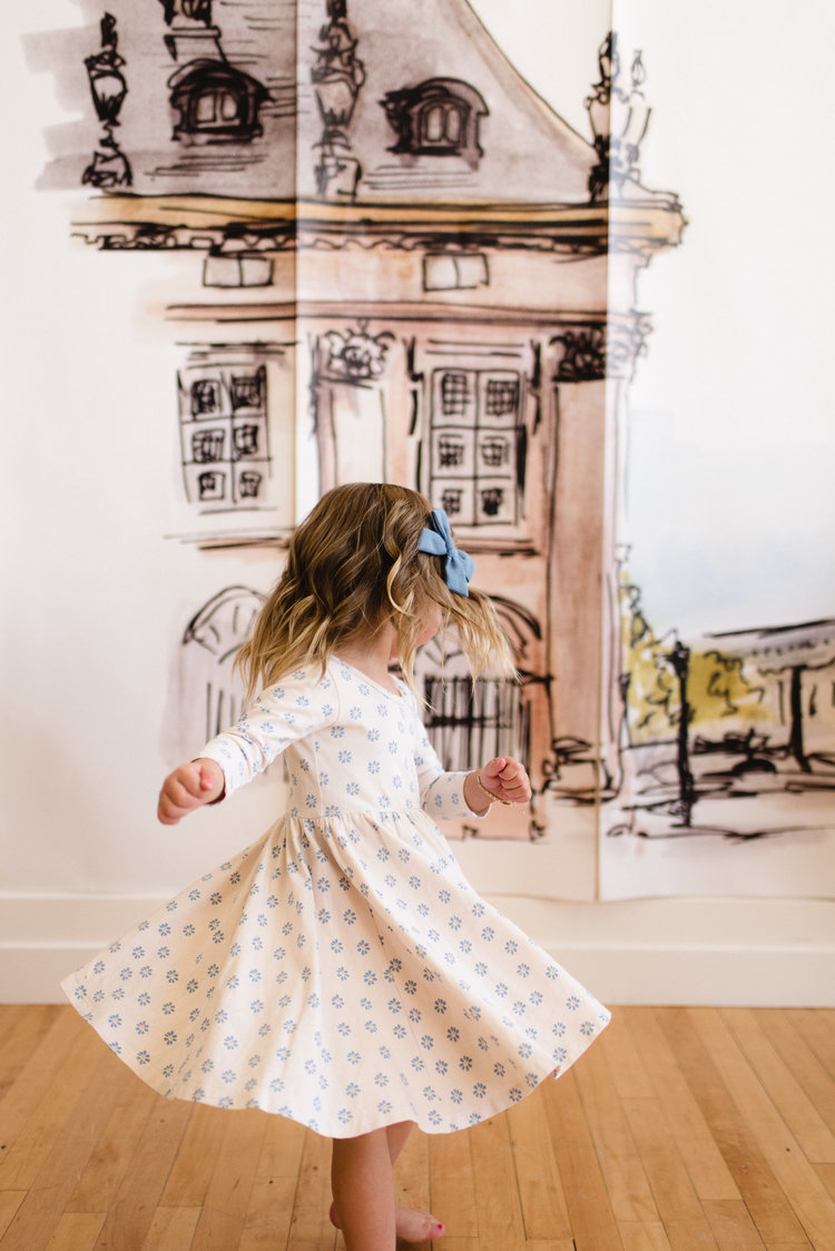 The cream ballet dress in wild little mums
