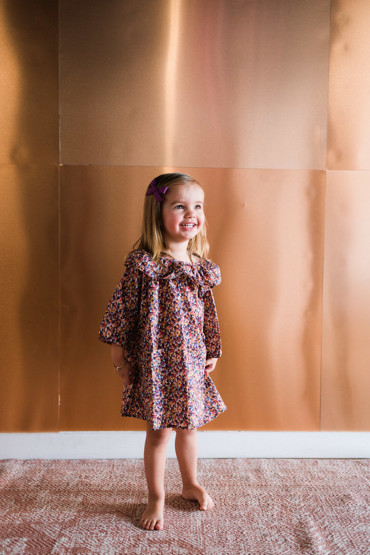Nona dress in winterberry floral