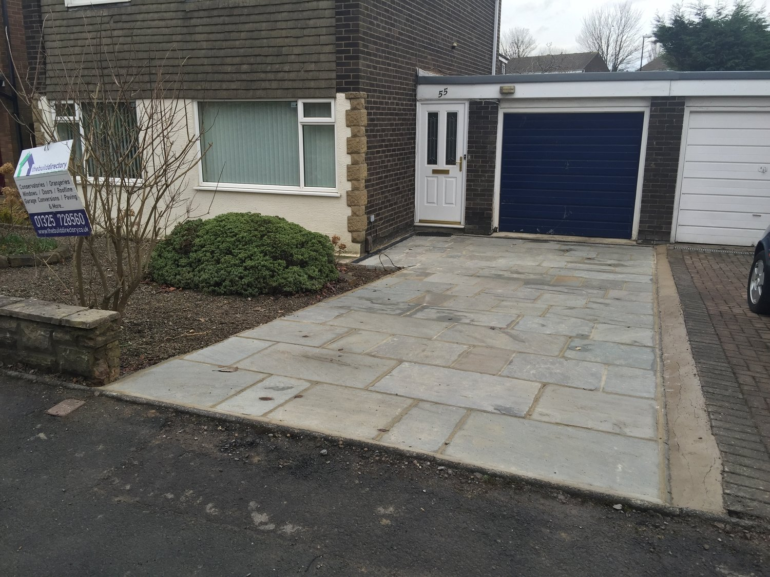 Before And After A Natural Stone Driveway In Harrogate The Build