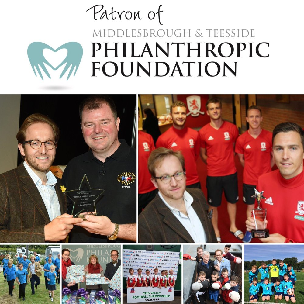 We are proud to play our part in the community and support one of the finest and far reaching organisations in the North with Teesside Philanthropic Foundation #teessidecharity