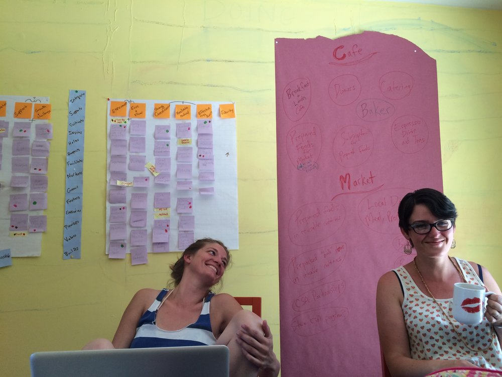 Marissa  & Robin working at the old office this past summer.