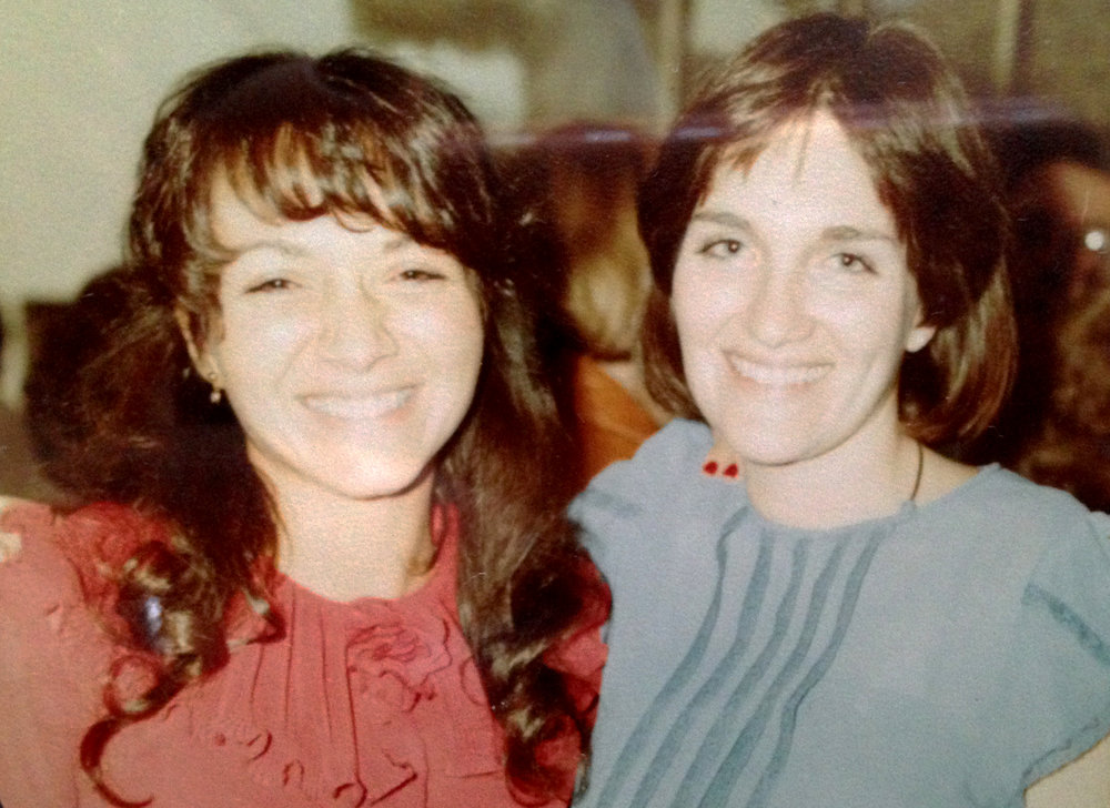 Ellen and Susan, likely in the early 1980s.
