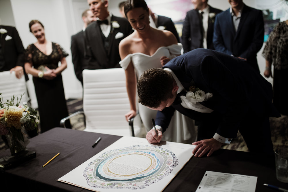 Caitlin and Zach's Ketubah signing ceremony, Cincinnati, Ohio,  2018