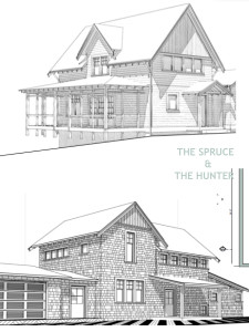Ross Chapin Spruce and Hunter Home Plans