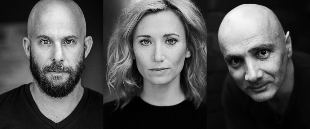 Permission To Spin cast Yure Covich, Anna Houston and Arky Michael
