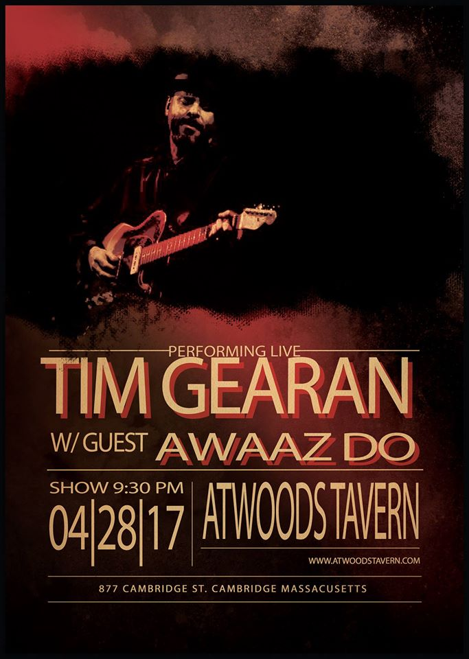 Tim Gearan with special guests Awaaz Do