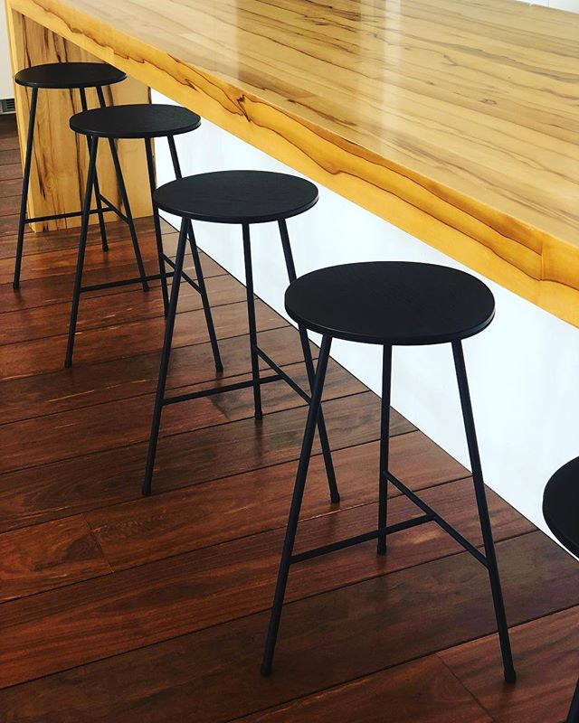 Our SAMESAME® bar stools in-line. The method they're made in makes each one unique. Vegan leather tops and our special CORE black finish. Thank you @mossmelbourne :) ⠀ ⠀ .⠀ .⠀ .⠀ .⠀ ⠀ #colour #color #colourful #interiors4all #archdaily #architizer #architecturelover #designresearch #artwork #arte #artistic #interiors123 #interiordesigns #stunning #interiordecor #interiordecoration #interiorsinspo #interiorstyle #designanddecoration #designer #designerstyle #lifestyle #architecture_hunter #artsytecture #building #architexture ⠀