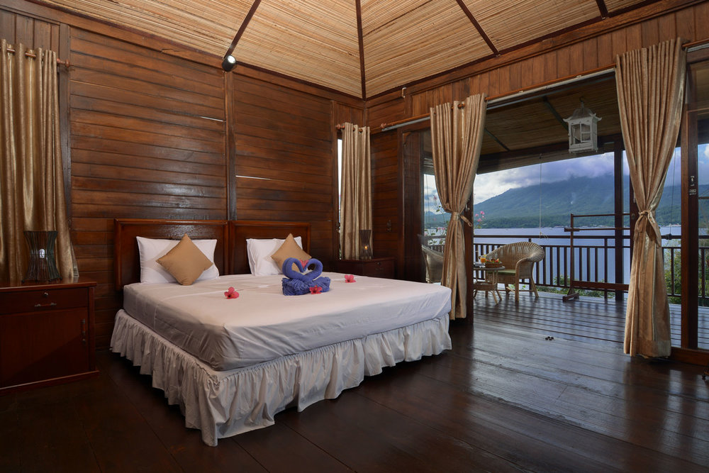 Comfortable bungalows with great view