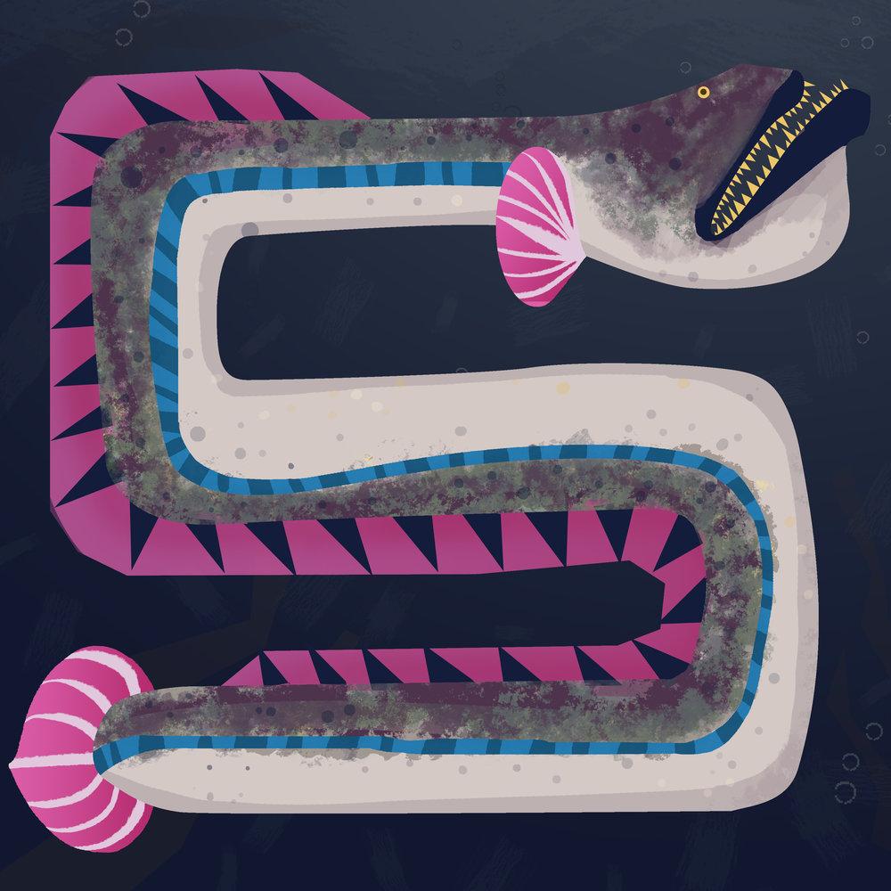 """""""Eel"""", Digital. 8""""x8"""""""