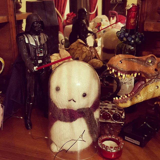 Oh noes Baby Tofu doesn't want to join the dark side of cuteness... #starwars #cute #teddy #tofu
