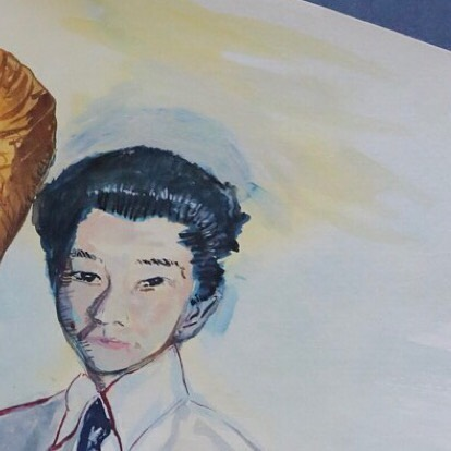 "Detail of work in progress by Alan Nakagawa for his upcoming 2019 exhibition ""Unfinished Proof Ninomiya""  _ 2018-2019 PRAXIS Artist-In-Residence @nakagawa2015  _ @csudominguezhills #csudh #alannakagawa #archive #artistresidency #ninomiyastudio #ninomiyaarchive"